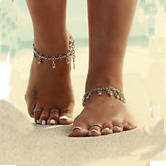 billige Kropssmykker-Dame Kroppsmykker Ankel Barfotsandaler Unikt design Bikini Enkel Stil Vintage kostyme smykker Legering Blomsterformet Dråpe Smykker