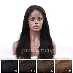cheap Human Hair Wigs-Human Hair Full Lace Wig Straight 130% Density 100% Hand Tied African American Wig Natural Hairline Short Medium Long Women's Human Hair
