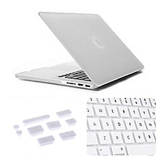 3 i en matt tilfelle med tastaturet dekselet og silikon støv plugg for macbook retina 13,3 tommer