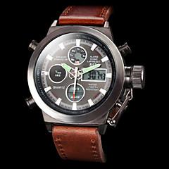בגדי ריקוד גברים שעוני ספורט שעונים צבאיים שעון יד שעון דיגיטלי Japanese קווארץ דיגיטלי Alarm לוח שנה כרונוגרף עמיד במים אזור זמן כפול