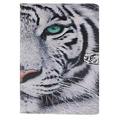 padrão de tigre branco de couro pu capinha de corpo inteiro com ranhura para suporte e cartão para ipad MINI3 / mini-Mini iPad 2 / iPad