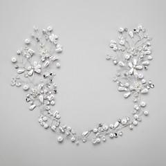 cheap Hair Jewelry-Crystal Imitation Pearl Rhinestone Alloy Flowers 1 Wedding Special Occasion Headpiece