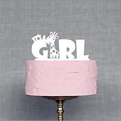 קישוטים לעוגה לא מותאם אישית אקרילי מסיבת מתנות לתינוק לבן נושאי גן / נושא אגדות 1 OPP