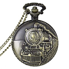 cheap Men's Watches-Men's Quartz Pocket Watch Casual Watch Alloy Band Charm Bronze