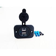 levne Auto Elektronika-yujie double usb nabíječka do auta zásuvka vstup: 12v-24v výstup: 5v 3.1a