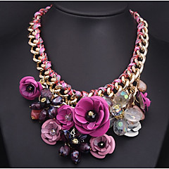 cheap Necklaces-Women's Pendant Necklace - Plaited Festival / Holiday Statement Flower Necklace For Party Special Occasion Birthday Gift