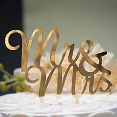 billige Kakedekorasjoner-Kakepynt Klassisk Tema Klassisk Par Hard Plastikk Bryllup jubileum Utdrikningslag med 1 OPP