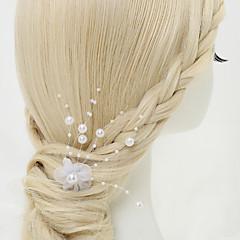 シフォン模造真珠合金ヘアピンヘッドピースエレガントなスタイル
