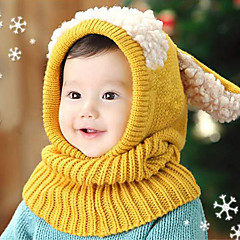 baratos Acessórios para Crianças-Para Meninas Para Meninos Capéus e Bonés Conjunto de Jóias Inverno Algodão, Bandanas - Amarelo Vermelho Azul Rosa claro