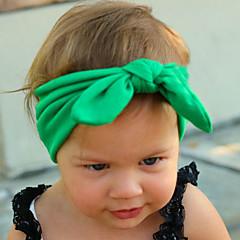 baratos Acessórios para Crianças-Para Meninas Acessórios de Cabelo Todas as Estações Algodão, Bandanas - Fúcsia Vermelho Verde Rosa claro Azul Claro