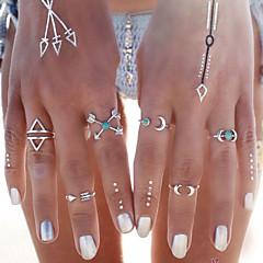 Femme Bagues Affirmées Turquoise Mode Personnalisé bijoux de fantaisie Turquoise Alliage Lune Ancre Bijoux Pour Soirée Quotidien