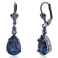 Damen Tropfen-Ohrringe Modisch Luxus-Schmuck Europäisch Synthetische Edelsteine Krystall Diamantimitate Aleación Tropfen Schmuck Für
