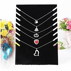 cheap Jewelry Boxes-Black Velvet Necklace Easel Jewelry Displays 19*7*28cm Elegant Style