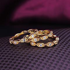Χαμηλού Κόστους Ring Set-Γυναικεία Σετ Κοσμημάτων Band Ring Χρυσαφί Ζιρκονίτης Επιχρυσωμένο 18Κ Χρυσό Μοντέρνα Γάμου Πάρτι Καθημερινά Causal Κοστούμια Κοσμήματα