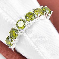 billige Motering-Dame Syntetisk Diamant Statement Ring - Strass, Sølvplett 7 / 8 / 9 Lilla / Rød / Grønn Til Bryllup Fest Daglig / Krystall