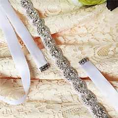 cheap Party Sashes-Satin Wedding Party / Evening Dailywear Sash With Rhinestone Crystal Beading Women's Sashes