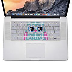 Eulenentwurf Silikontastatur-Abdeckungshaut für macbook Luft 13.3, MacBook Pro mit Retina 13 15 17 US-Layout