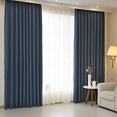 tanie Akcesoria okienne-zasłony zasłony Sypialnia Jendolity kolor Linen / Cotton Mieszanka Żakard / Zaciemnienie