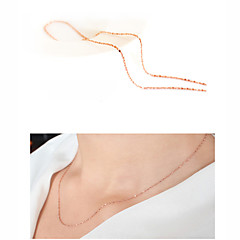 Jewelry Chain Necklaces Wedding / Party / Daily / Casual Gold 1pc Women Wedding Gifts