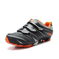 billige Sykkelsko-Tiebao® Voksne Mountain Bike-sko Nylon Vanntett, Anti-Skli, Demping Sykling Grå Herre