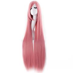 ieftine Perucă Costum-Peruci Sintetice / Peruci de Costum Drept Păr Sintetic Pink Perucă Pentru femei Foarte lung Fără calotă