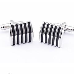 unike striper menns bryllup mansjettknapper shirt dress virksomhet cuff links