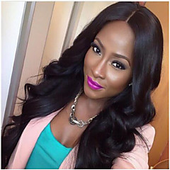 Synthetic Wig Wave Middle Part Black Women's Capless Best Quality Natural Color Long Synthetic Hair
