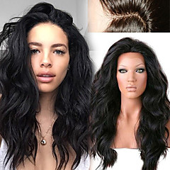 cheap Human Hair Wigs-Human Hair Full Lace Lace Front Wig Natural Wave Loose Wave 130% Density 100% Hand Tied African American Wig Natural Hairline Short