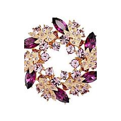 bling bling krystall Rhinsten gullbelagte kinesiske blomst brosje nåler smykker kvinner brosjer for skjerf