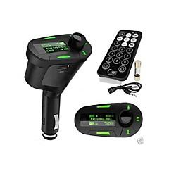 FMトランスミッターハンズフリーカーキット/ワイヤレスコントローラと/ mp3プレイSD / MMCカード