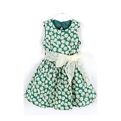 tanie Odzież dla dziewczynek-Brzdąc Dla dziewczynek Kwiatowy Kwiaty Bez rękawów Sukienka