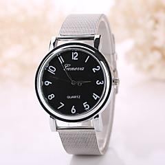 Erkek Bayanların Moda Saat Quartz Gündelik Saatler Paslanmaz Çelik Bant Bohem Gümüş Altın Rengi Beyaz Siyah