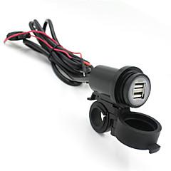 iztoss motorkerékpár 12V-24V Vízálló USB telefon töltő adapter dupla USB 2.1a