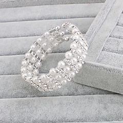 cheap Bracelets-Women's Pearl Strand Pearl Silver Jewelry Wedding Party Special Occasion Anniversary Birthday Engagement Gift Daily Casual Office &