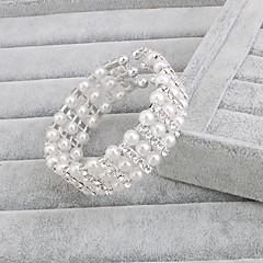 お買い得  ブレスレット-真珠  -  ストランド ブレスレット シルバー 用途 結婚式 / パーティー / 記念日 / 誕生日 / 婚約 / 贈り物 / 日常 / カジュアル