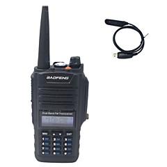 billige Walkie-talkies-Håndholdt Dobbelt bånddisplayNød Alarm Programmerbar med datasoftware Strømsparefunksjon Lader og adapter VOX bakgrunnsbelysning