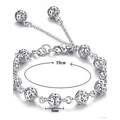 Dames Armbanden met ketting en sluiting Bedelarmbanden Sterling zilver Wit Sieraden Voor Bruiloft Feest Dagelijks Causaal Kerstcadeaus1