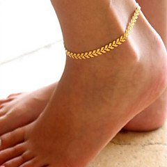 tanie Piercing-Łańcuszek na kostkę - Damskie Golden Łańcuszek na kostkę Na Prezenty bożonarodzeniowe Codzienny Casual