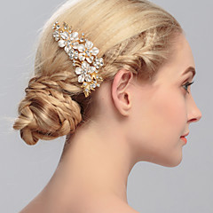 cheap Hair Jewelry-Rhinestone Hair Combs 1 Wedding Special Occasion Casual Office & Career Outdoor Headpiece