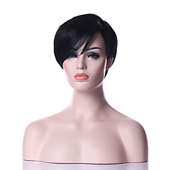 cheap Wigs & Hair Pieces-Synthetic Wig Women's Straight Synthetic Hair Wig Short Capless Black Natural Black Black hairjoy