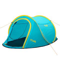 Makino 2 사람 텐트 더블 베이스 캠핑 텐트 원 룸 텐트 팝업 방수 방풍 비 방지 먼지 방지 안티 곤충 울트라 라이트 (UL) 통기성 용 피싱 하이킹 바닷가 캠핑 여행 야외 실내 2000-3000 mm 폴리에스테르 유리 섬유 CM