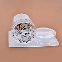 Other Decorations-Abstrakti / Lovely-Sormi / Varvas-Muovi-4cm for the head-1set nail stamper and scraper