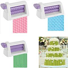 billige Bakeredskap-Rolling pin embosser rullesett kaker fondant stripe bånd sukker håndverk
