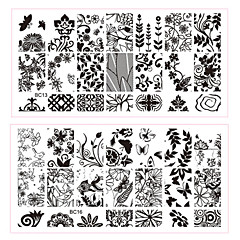 New 1pcs Lace Flowers Butterfly Designs Nail Art Stamping Plates Stainless Steel DIY Polish Printing Nail Template Tools