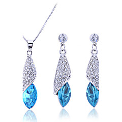 Charms Jewelry Sterling Silver / Zircon / Gem Jewelry Set Necklace/Earrings