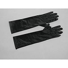 cheap Party Gloves-Elbow Length Fingertips Glove Satin Elastic Satin Bridal Gloves Party/ Evening Gloves Winter Gloves Spring Summer Fall Winter