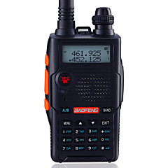 billige Walkie-talkies-BAOFENG UV-5R5TH-BLK Walkie-talkie Håndholdt Digital Lader og adapter Stemmekommando Strømskifter høy/lav Type walkie-talkie CTCSS/CDCSS
