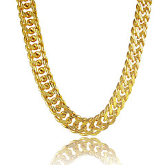 cheap Men's Jewelry-Men's Chain Necklace - Platinum Plated, Gold Plated Personalized Golden Necklace Jewelry For Gift, Daily, Casual, Sports, Beach