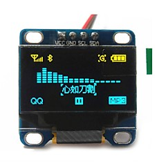 """cheap -0.96"""" Inch Yellow and Blue I2c IIC Serial 128x64 Oled LCD Oled LED Module for Arduino Display 51 Msp420 Stim32 SCR"""