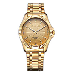 CHENXI® Golden Fashion Men's Watch Imitation Diamond Luxury Stainless Steel Quartz Gold Wrist Watch Cool Watch Unique Watch